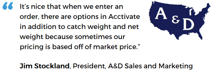 A&D Sales and Marketing - catch weight
