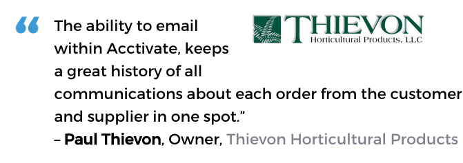 Horticulture software user, Thievon Horticultural Products