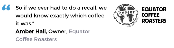 Acctivate food & beverage software user, Equator Coffee Roasters