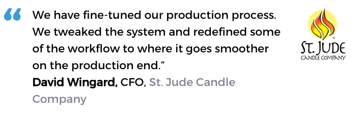 Acctivate for QuickBooks® manufacturing inventory software user, St, Jude Candle Company