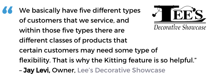 Acctivate for QuickBooks manufacturing software user, Lee's Decorative Showcase