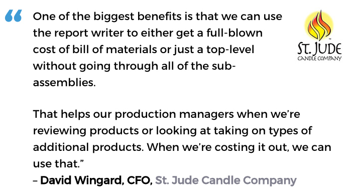 Acctivate for QuickBooks manufacturing software user, St, Jude Candle Company