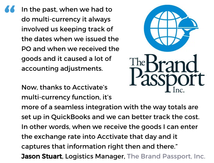 Acctivate user, The Brand Passport