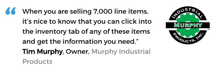 Acctivate industry supply software user, Murphy Industrial Supply