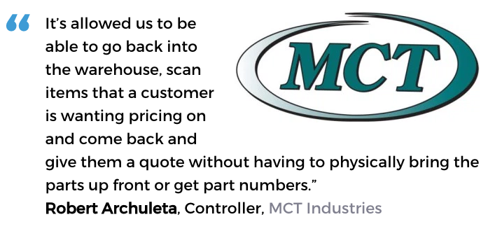 Acctivate inventory software and barcodes user, MCT Industries