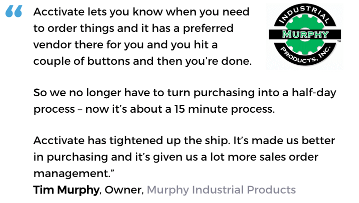 Purchasing software user, Murphy Industrial Products