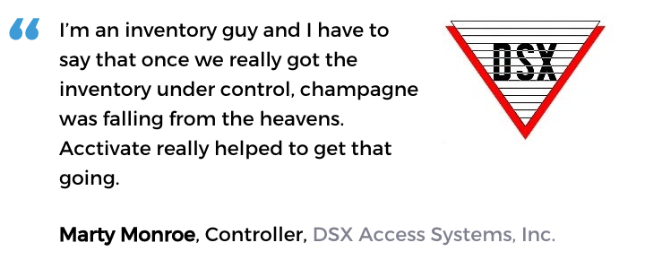 Inventory control management software user, DSX Access Systems, Inc