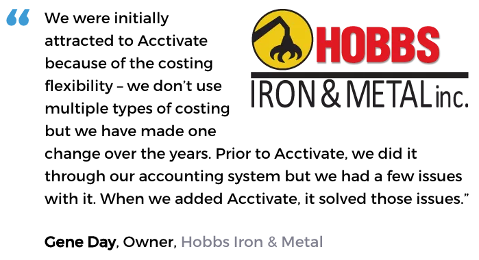 Acctivate user, Hobbs Iron & Metal, Inc.