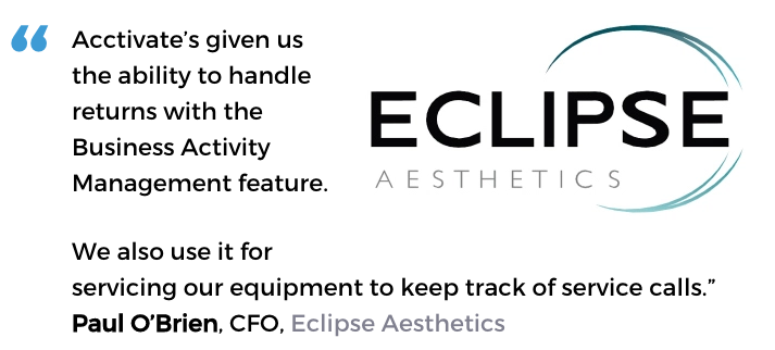 Business activity monitoring user, Eclipse Aesthetics