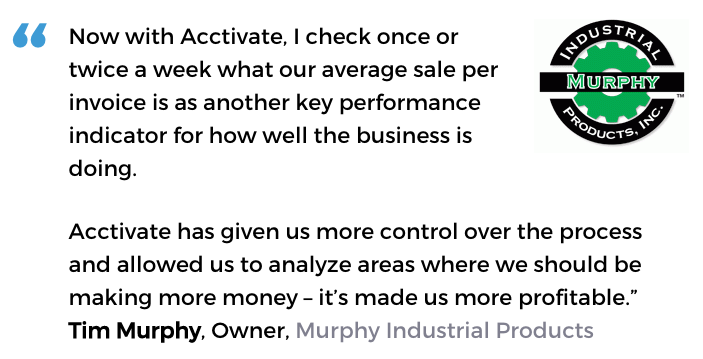 Acctivate inventory software with decision support tools user, Murphy Industrial Products