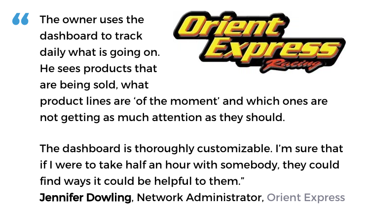 Acctivate inventory software with decision support tools user, Orient Express