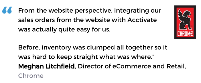 eCommerce inventory management success from an Acctivate customer