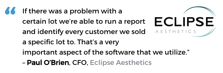 Acctivate medical & pharma distribution software user, Eclipse Aesthetics