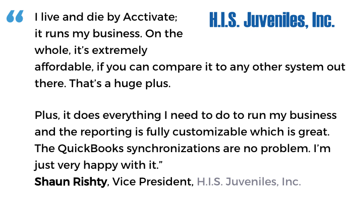 Acctivate wholesale distribution software user, H.I.S. Juveniles, Inc.