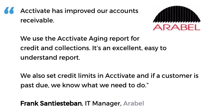 Acctivate inventory software with credit management user, Arabel