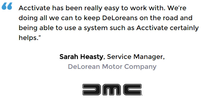 Auto parts software user - DeLorean Motor Company