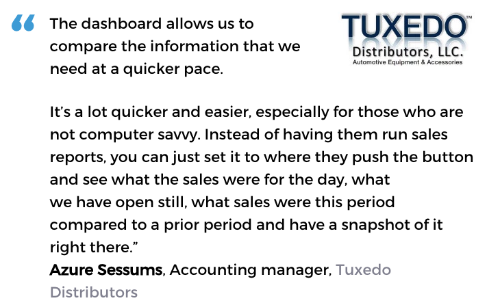 Auto parts software user: Tuxedo Distributors