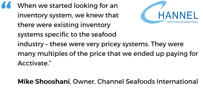 Channel Seafoods International - affordable inventory software