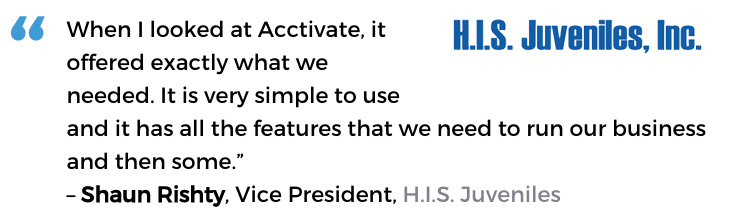 H.I.S. Juveniles uses Acctivate's tools to understand and grow their business