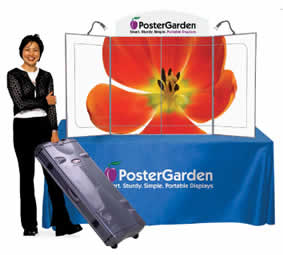Poster Garden tradeshow and event displays