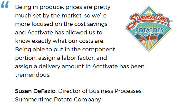 Produce distribution software user - Summertime Potato