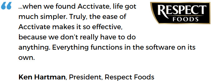 Respect Foods uses Acctivate