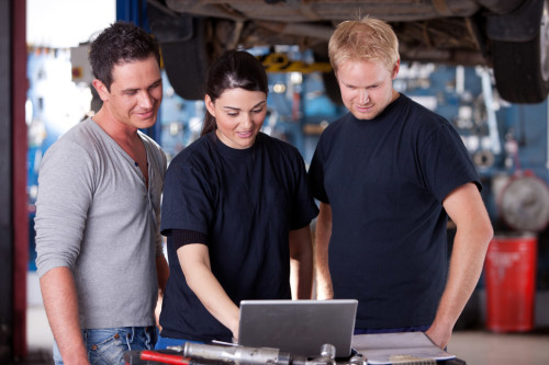 Auto parts software for managing installation & repair services