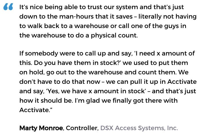 Acctivate user: DSX Access Systems