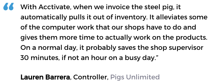 Automated inventory management system user: Pigs Unlimited