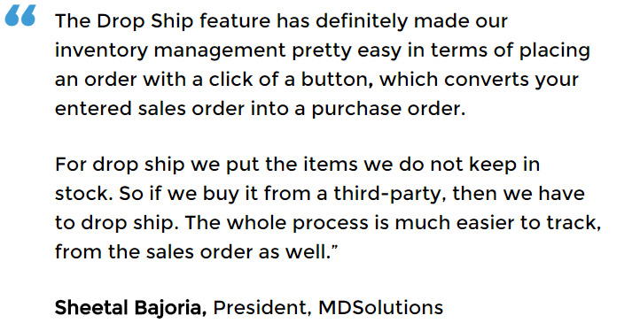 Purchasing and inventory control solution with drop ship management