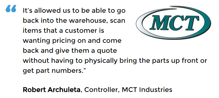 Acctivate inventory and barcoding software user MCT Industries