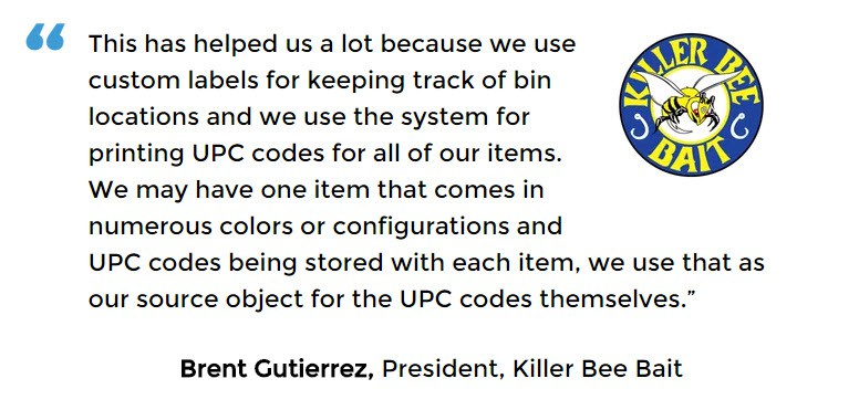 Acctivate inventory and barcode software user - Killer Bee Bait