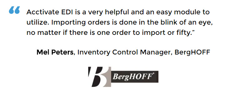 Manufacturing Control Software for BergHOFF