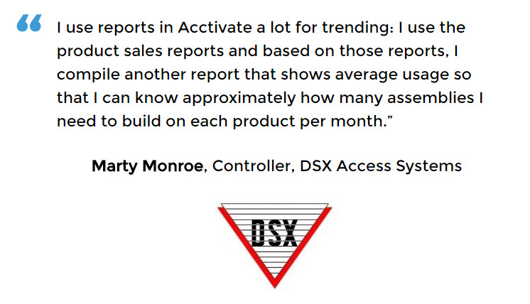 Manufacturing Control Software for DSX Access Systems