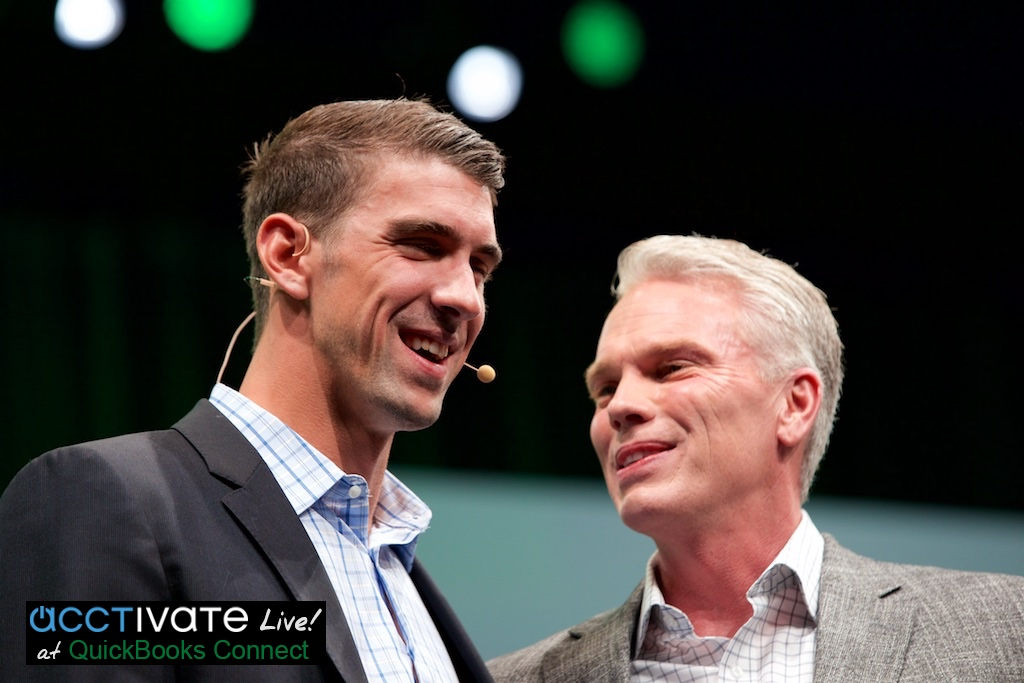 Michael Phelps with Brad Smith, QuickBooks Connect 2016