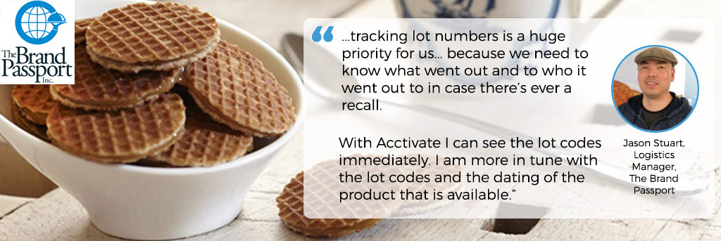 The Brand Passport uses Acctivate Lot Traceability