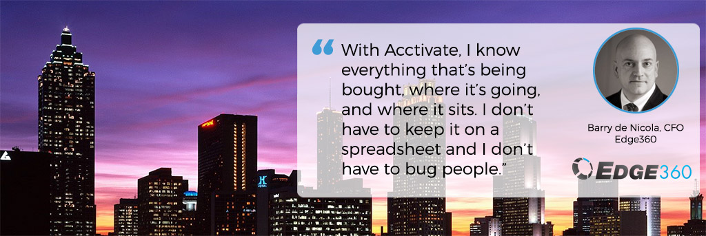 Edge360 uses Acctivate Inventory Software