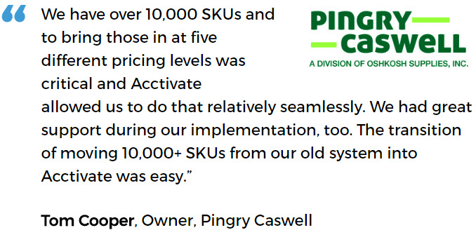 Janitorial Distribution Software User - Pingry Caswell