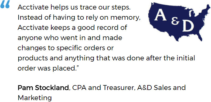 A&D Experiences Better Order Management After Replacing Manual Inventory Tracking