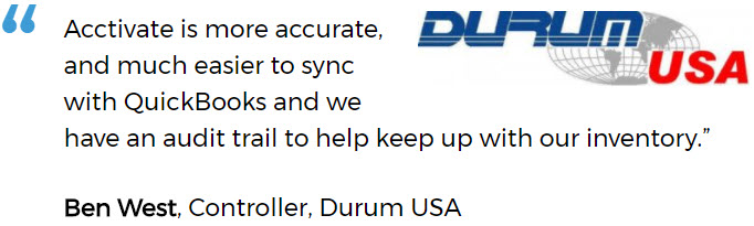Durum USA on Better Audit Trail After Replacing Manual Inventory Tracking