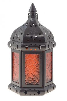 A lantern from a lighting showroom