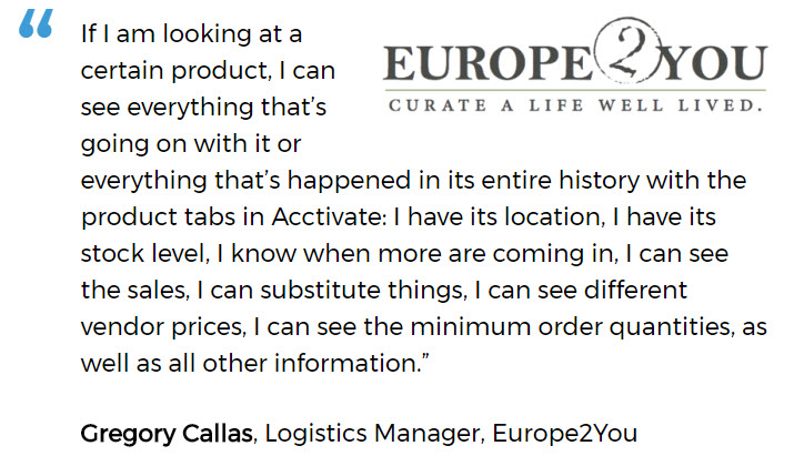 Europe2You uses Acctivate's lighting showroom software