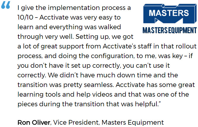 Masters discusses a successful software implementation for a small business