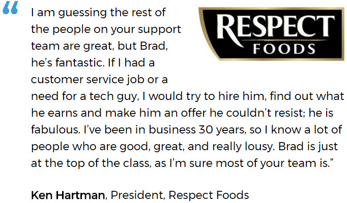 Respect Foods discusses a successful software implementation for a small business