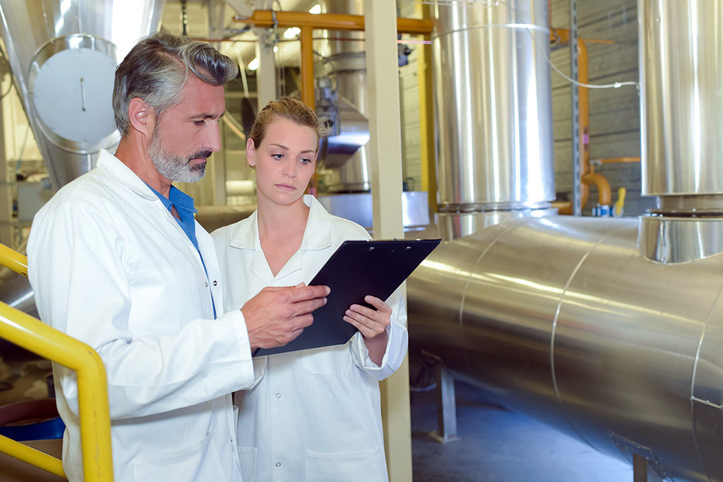 Food safety inspectors during a recall