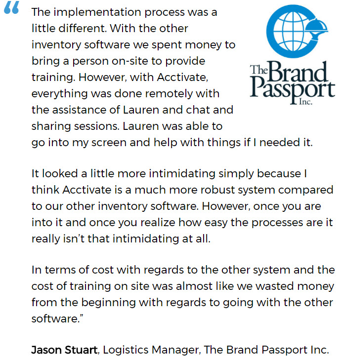 Brand Passport discusses a successful software implementation for a small business.