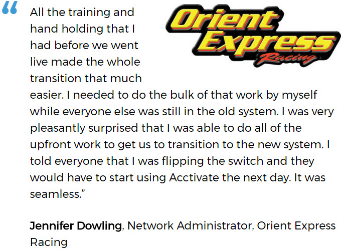 Orient Express tells about a successful software implementation for a small business