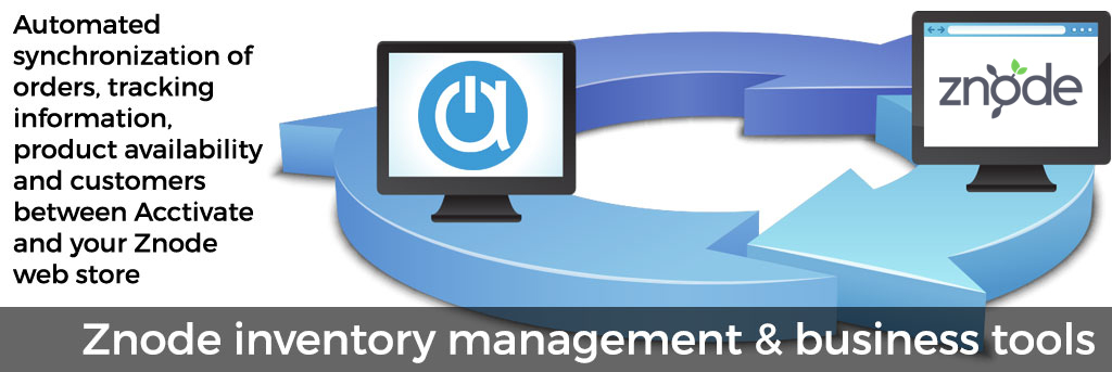 Znode inventory management and business tools for web store integration