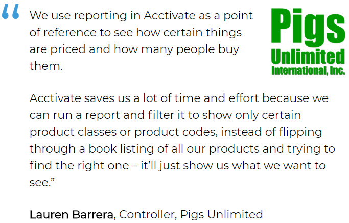 Spare parts inventory software user - Pigs Unlimited