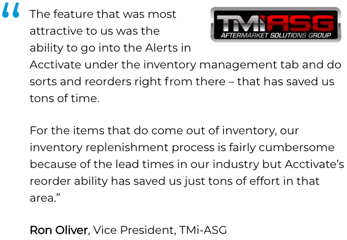 QuickBooks HVAC Software for Inventory Management is trusted by TMi-ASG to manage their HVAC business
